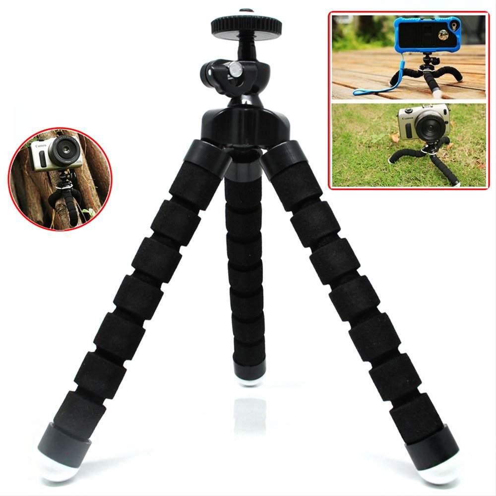 Szelfibot telefon selfie állvány flexibilis lábakkal-fekete