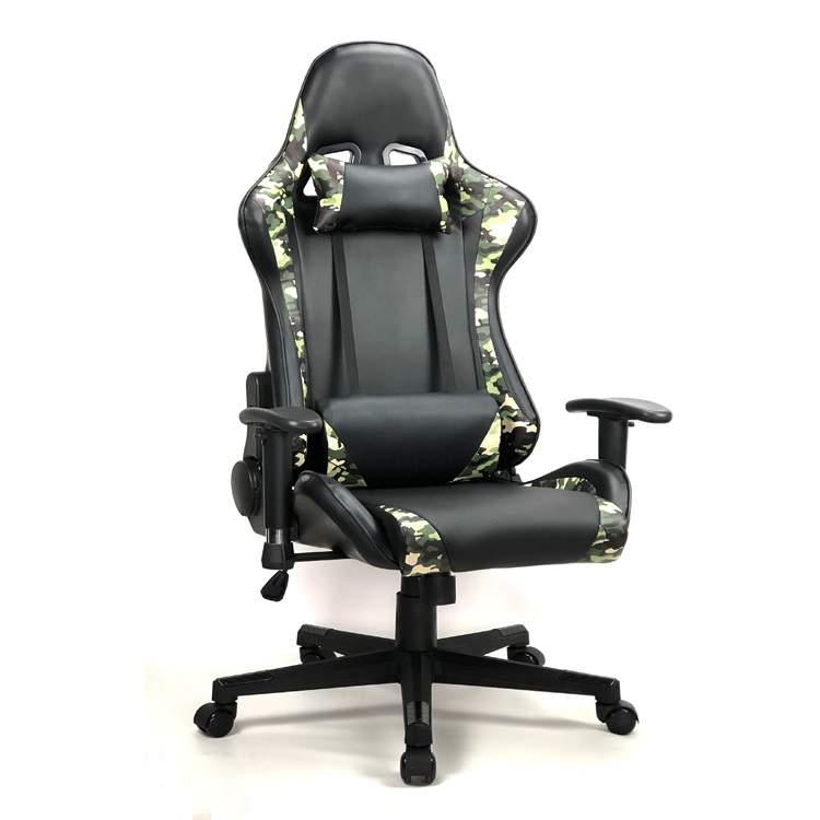 Katonai terep mintás gamer  irodai szék forgószék főnöki fotel fekete-terep