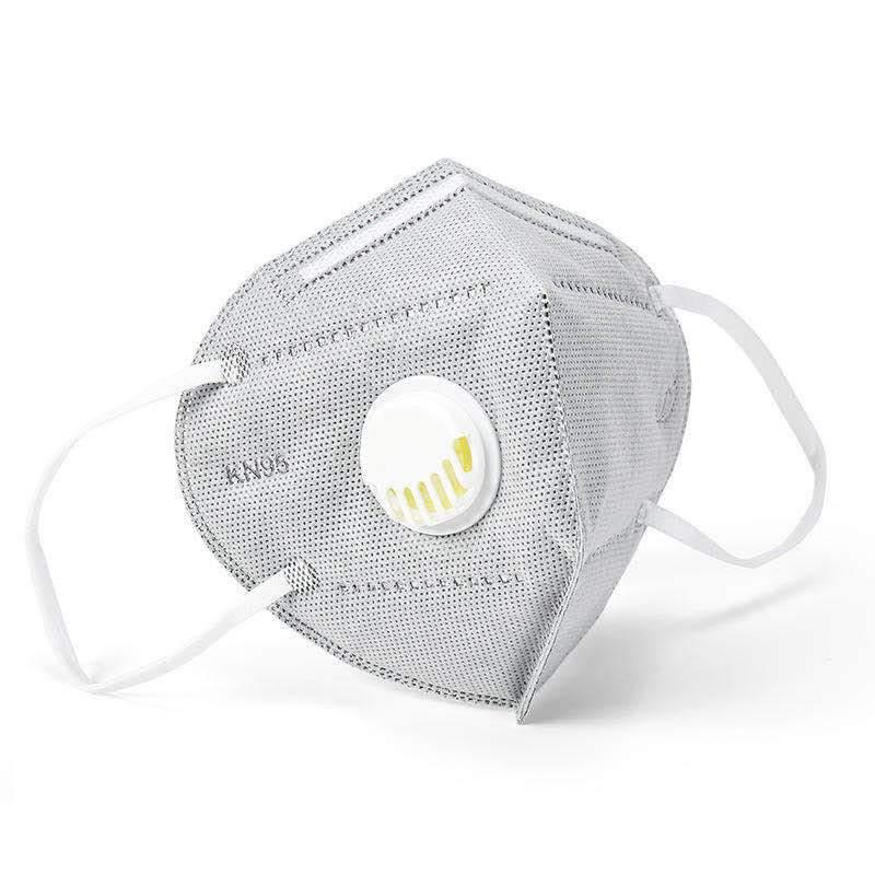 5db Készletről FFP2 védő maszk szürke szájmaszk aktívszenes szelepes porvéd