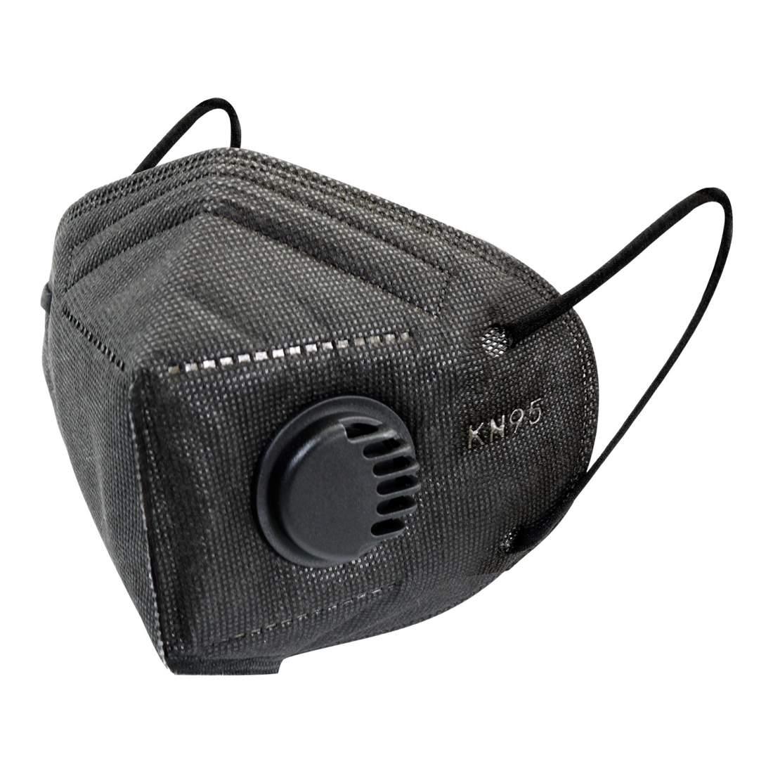 5db fekete FFP2 védő maszk szájmaszk aktívszenes szelepes