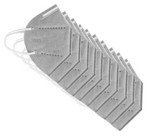 10db Aktív szenes FFP2 kn95 védő maszk szürke szájmaszk  arcmaszk