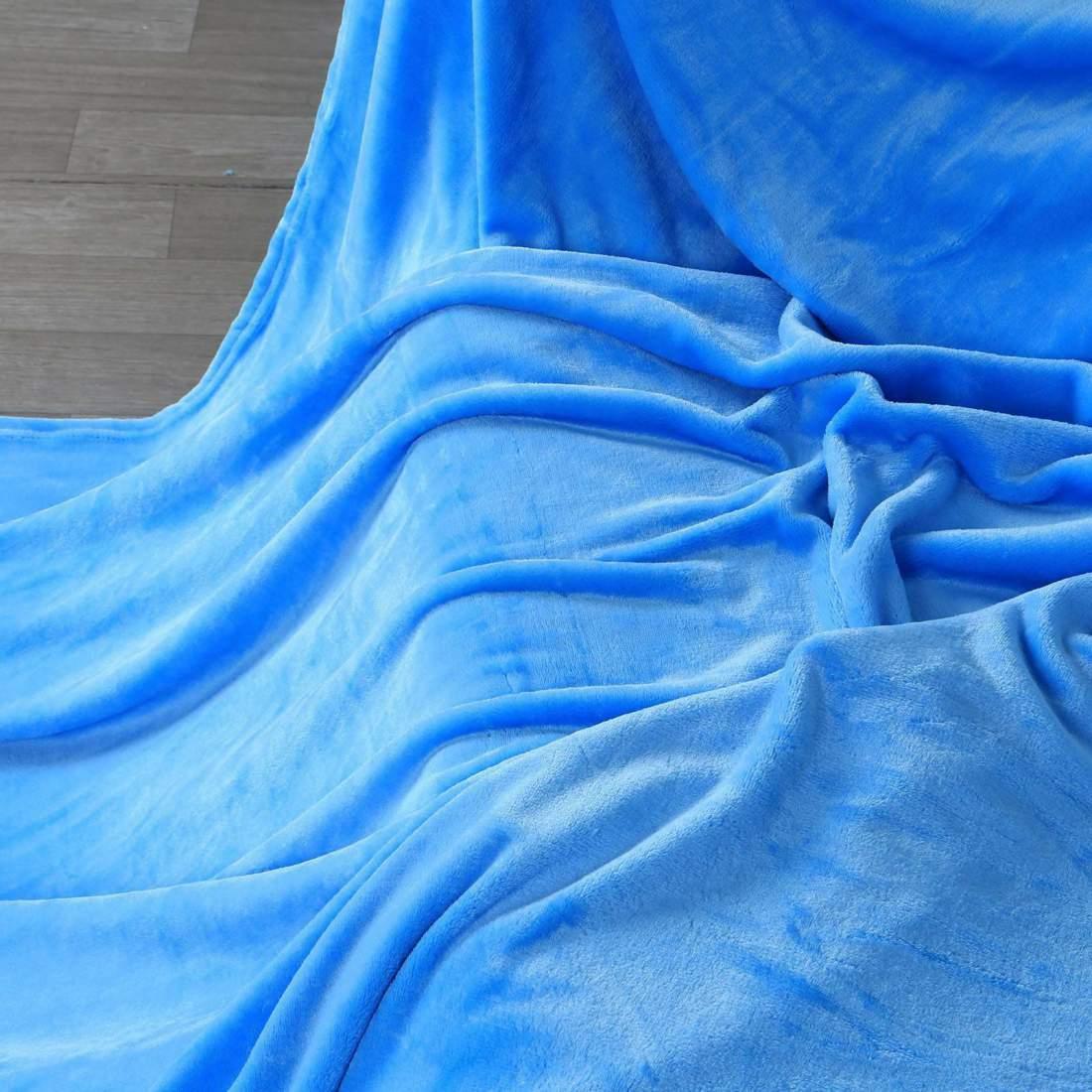 200x230cm puha takaró wellsoft ágytakaró kék
