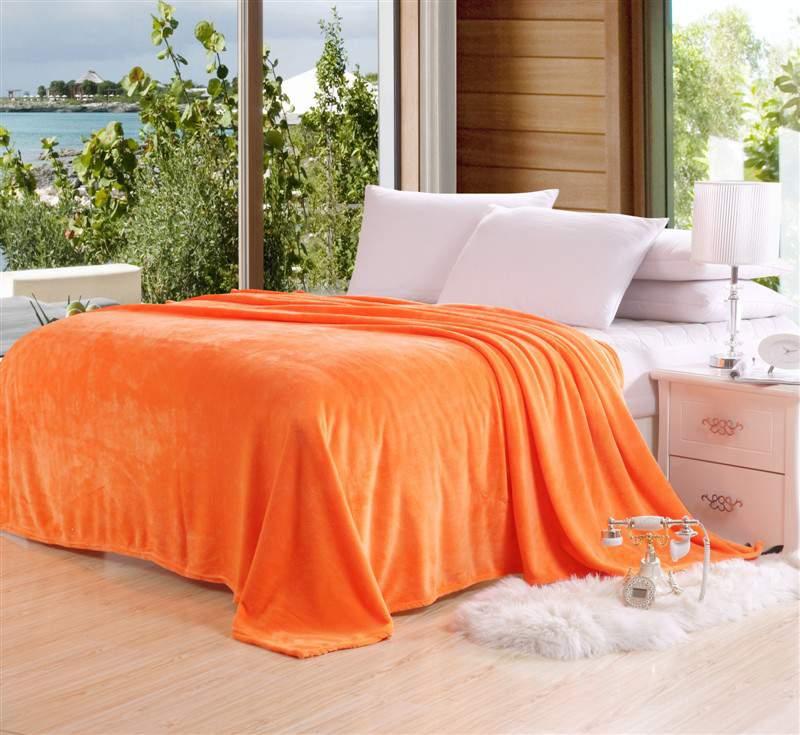 Narancssárga 200x230cm puha takaró wellsoft ágytakaró
