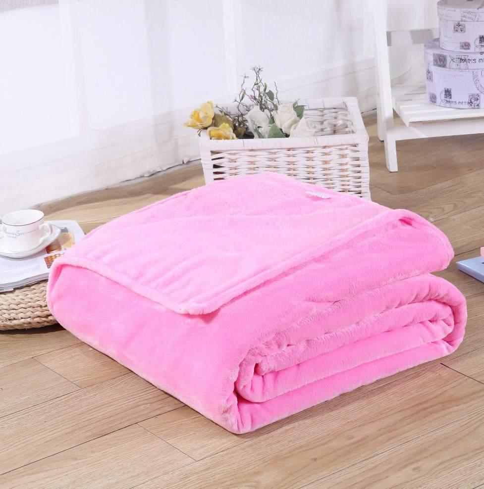 Rózsaszín 200x230cm puha takaró wellsoft ágytakaró
