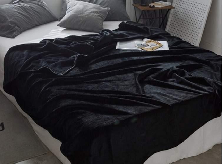 Fekete 200x230cm puha takaró wellsoft ágytakaró