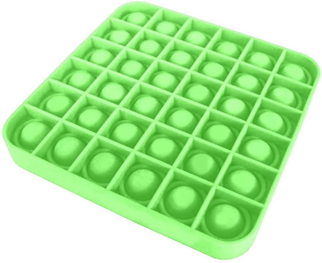 A Tik Tok sztárjai : Pop it Push Pop Bubble Fidget szilikon játék -zöld kocka