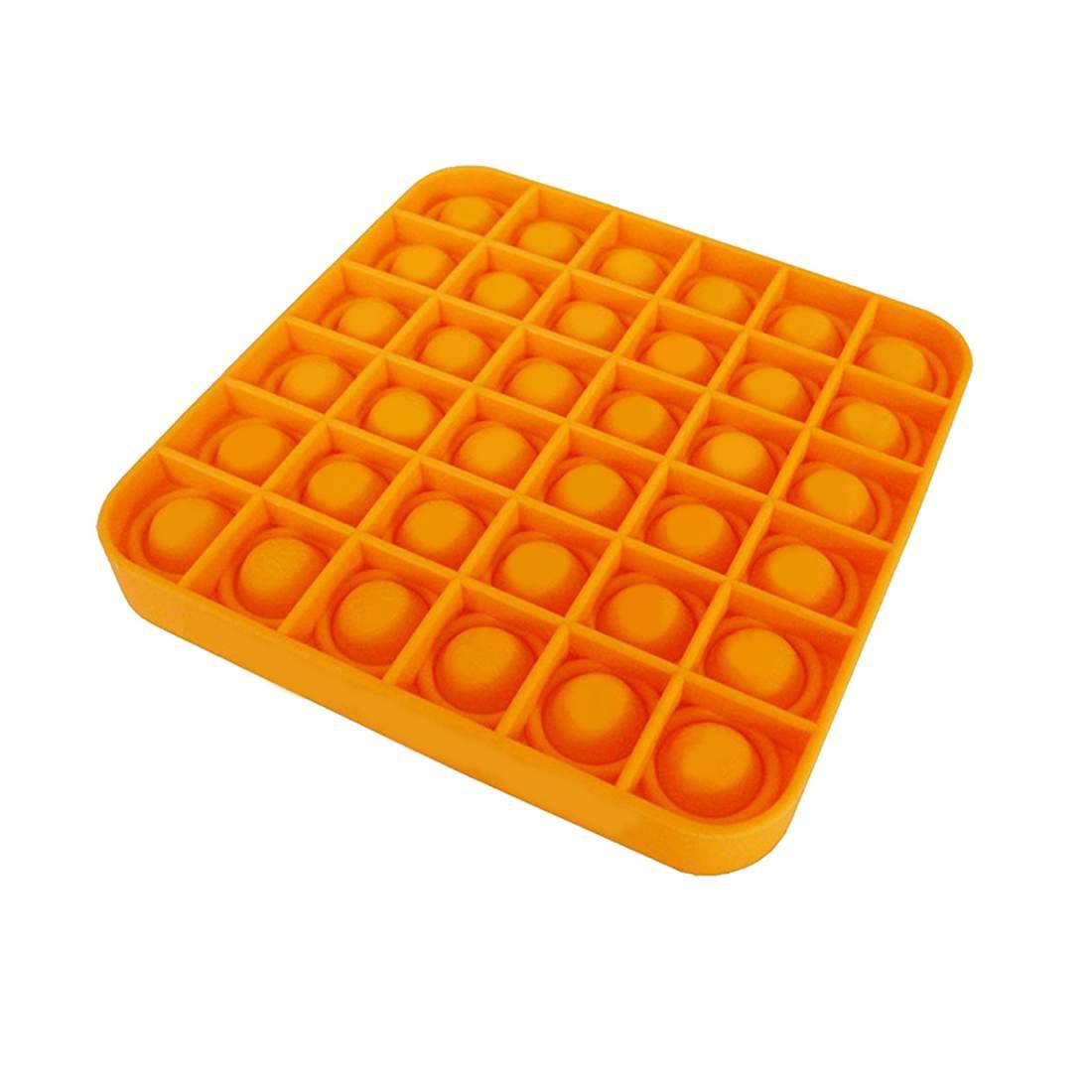 A Tik Tok sztárjai : Pop it Push Pop Bubble Fidget szilikon játék - narancssárga kocka
