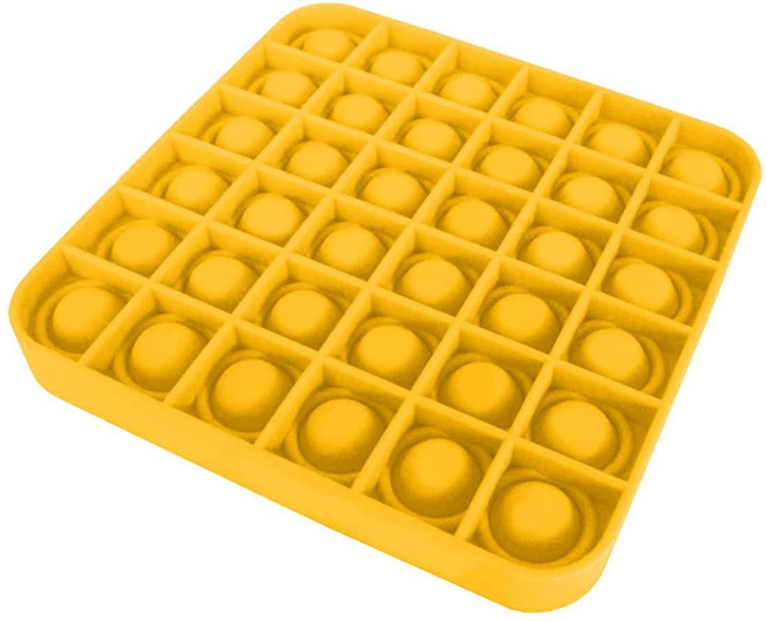 A Tik Tok sztárjai : Pop it Push Pop Bubble Fidget szilikon játék - sárga kocka