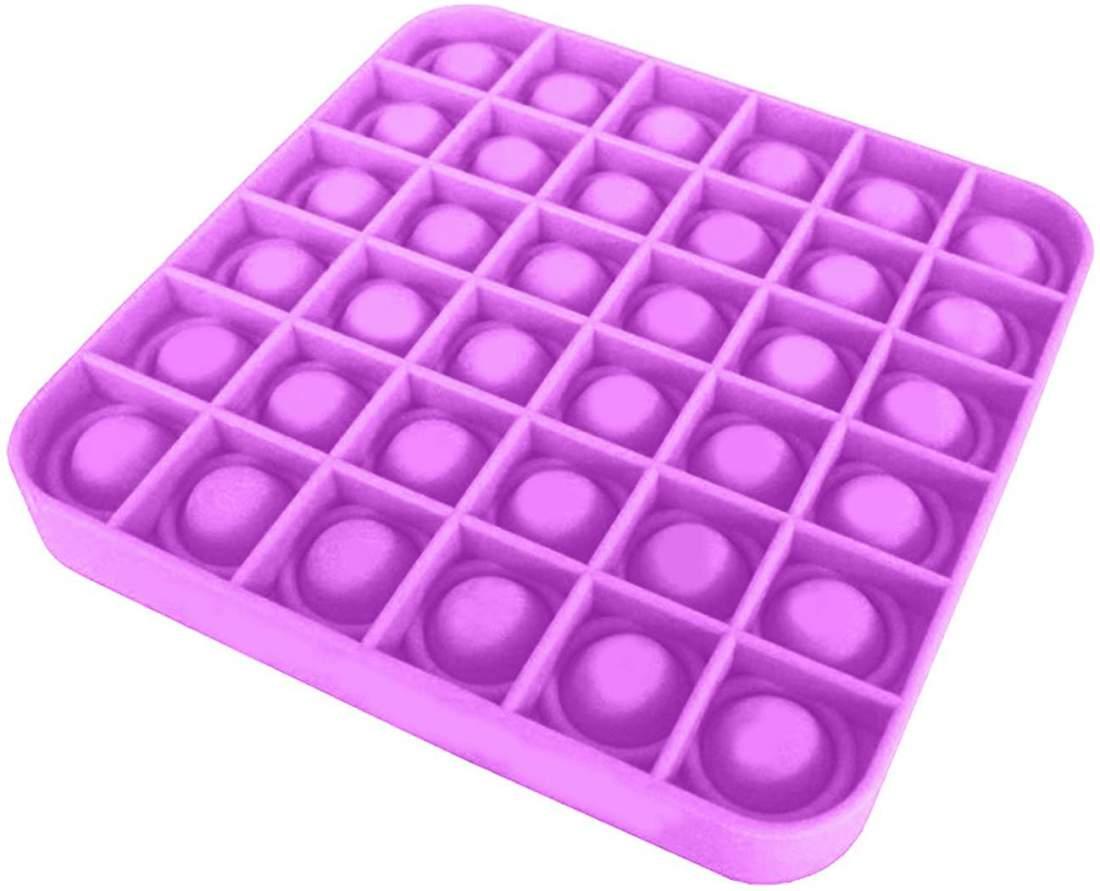 A Tik Tok sztárjai : Pop it Push Pop Bubble Fidget szilikon játék -lila kocka