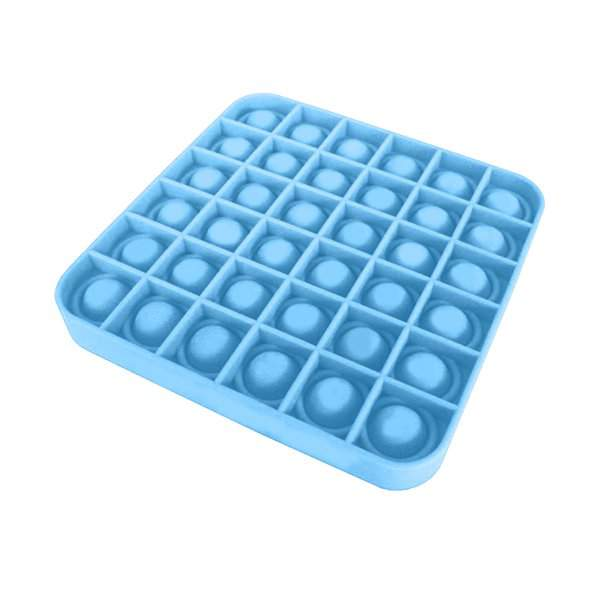 A Tik Tok sztárjai : Pop it Push Pop Bubble Fidget szilikon játék - kék kocka