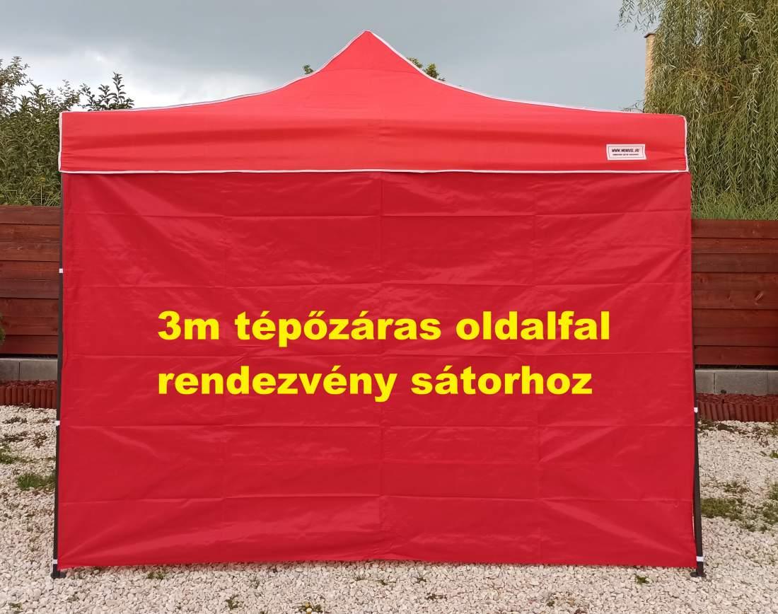 3m tépőzáras oldalfal piros oldalponyva rendezvény sátorhoz