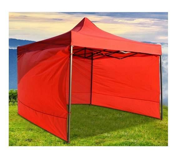 9m tépőzáras oldalfal piros oldalponyva rendezvény sátorhoz