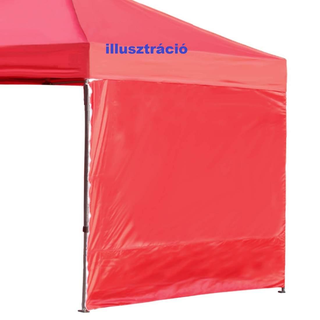 4,5m tépőzáras  oldalfal piros oldalponyva rendezvény sátorhoz