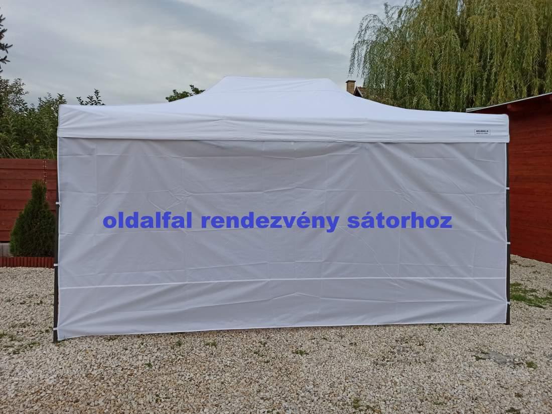 6m tépőzáras oldalfal fehér oldalponyva rendezvény sátorhoz