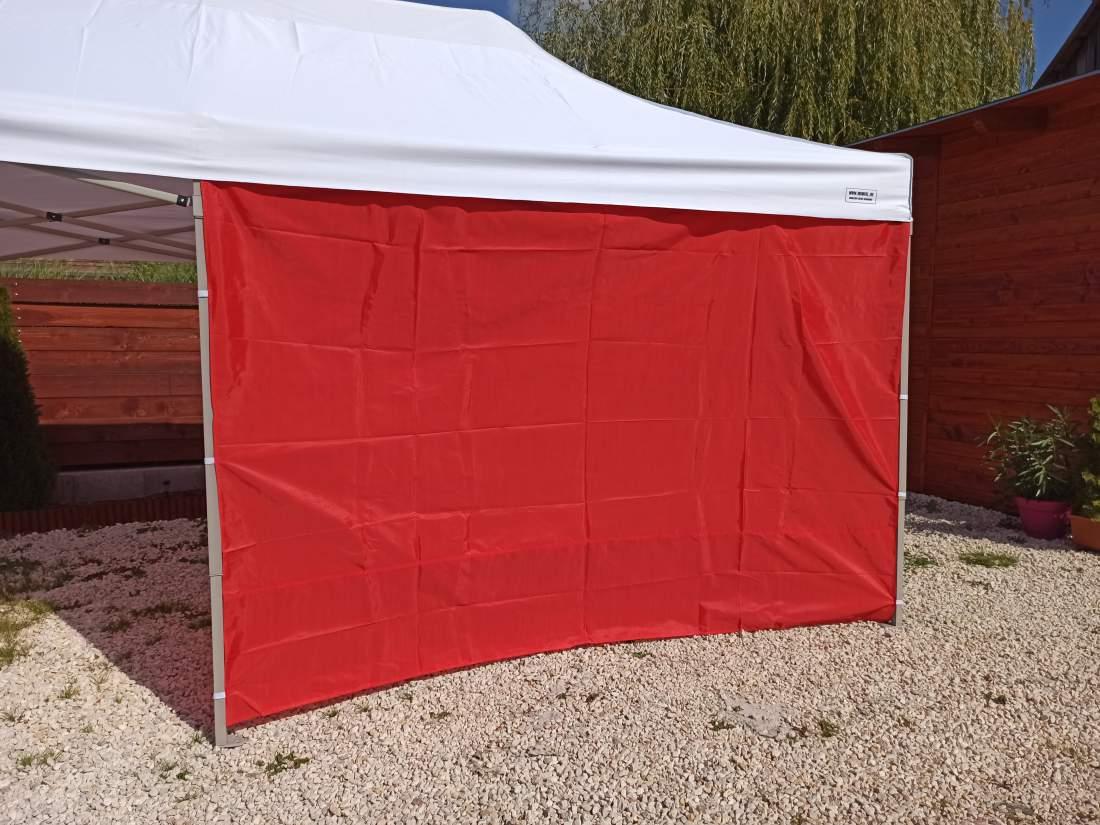 6m tépőzáras oldalfal piros oldalponyva rendezvény sátorhoz