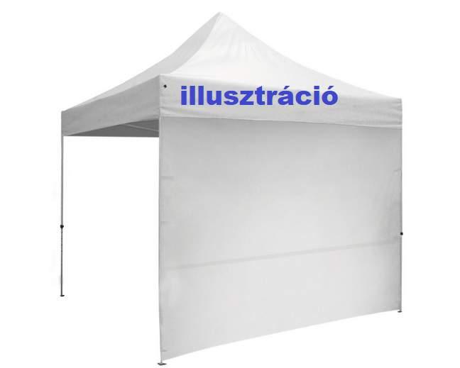 2m oldalfal fehér oldalponyva rendezvény sátorhoz tépőzáras