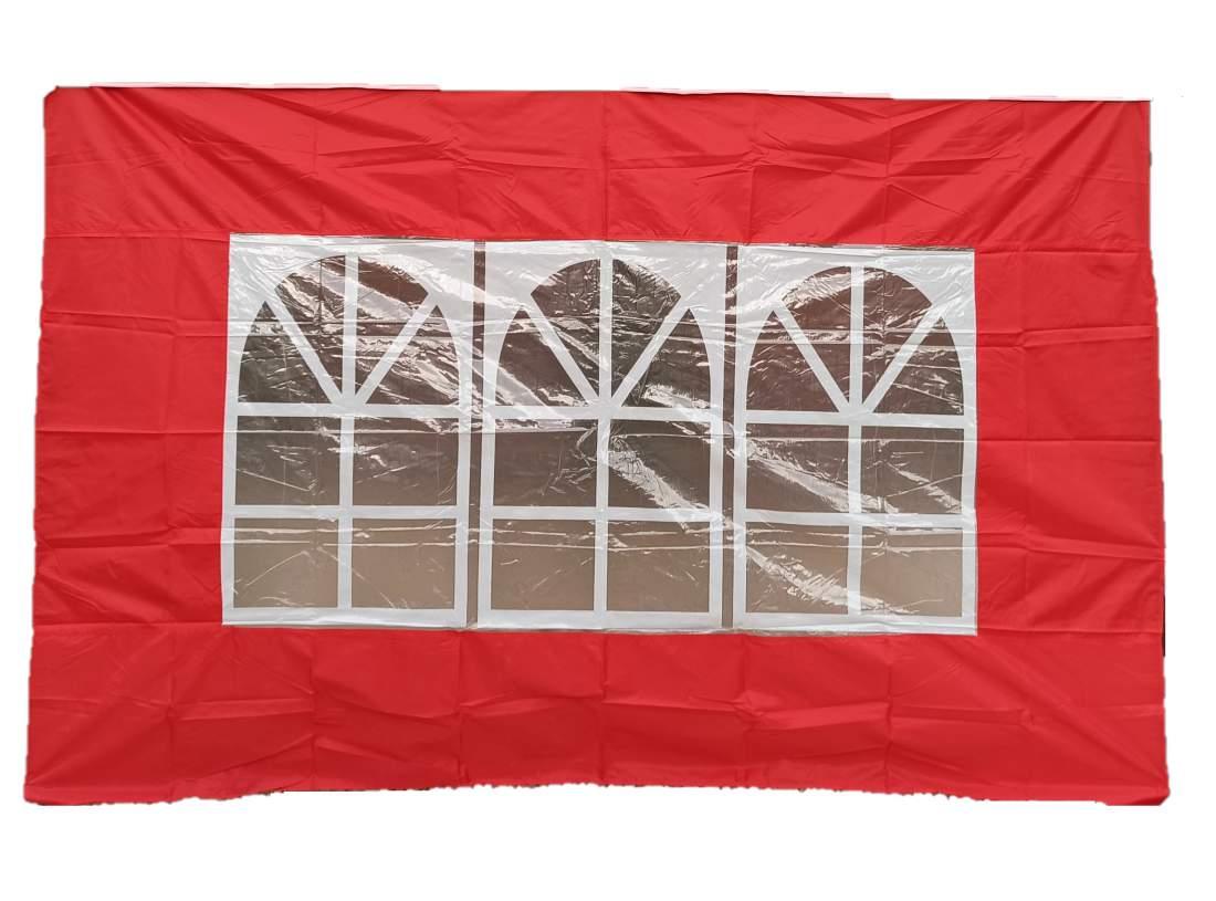 3m ablakos oldalfal piros oldalponyva rendezvény sátorhoz
