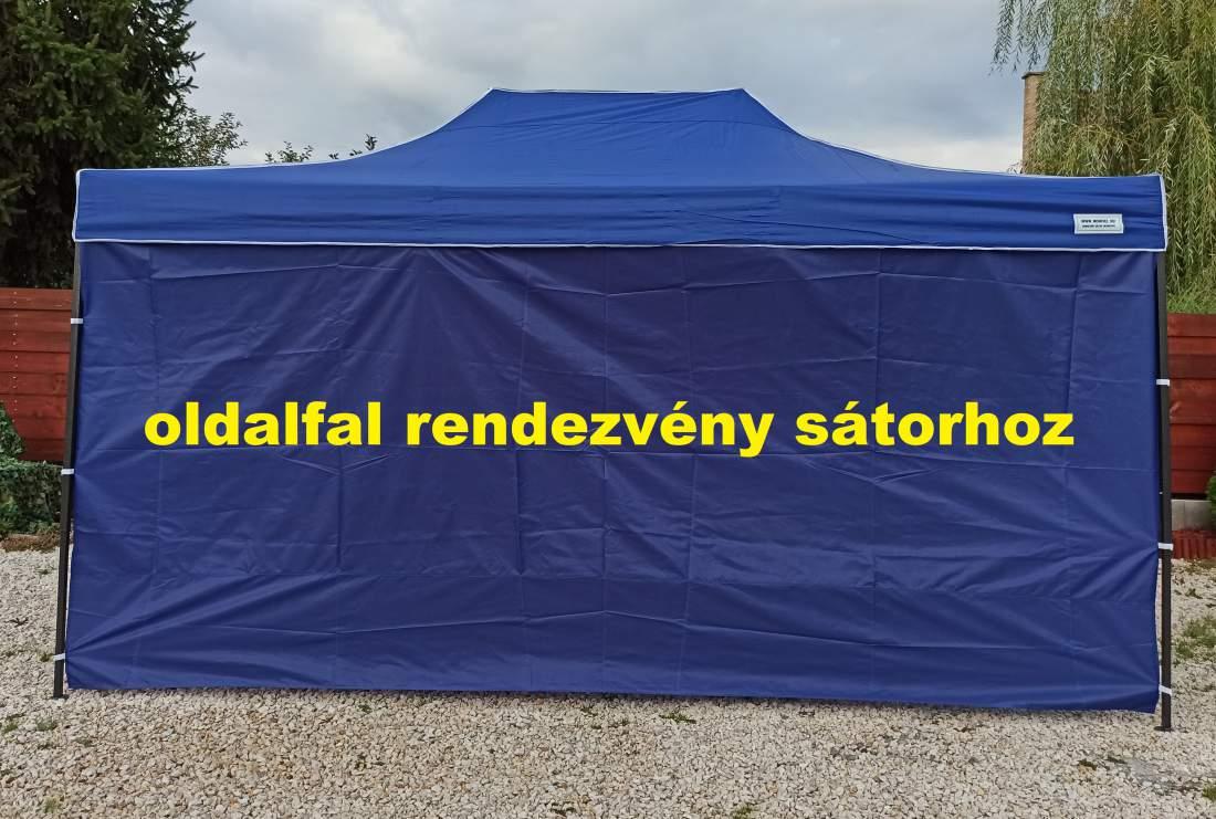 4,5m tépőzáras  oldalfal kék oldalponyva rendezvény sátorhoz