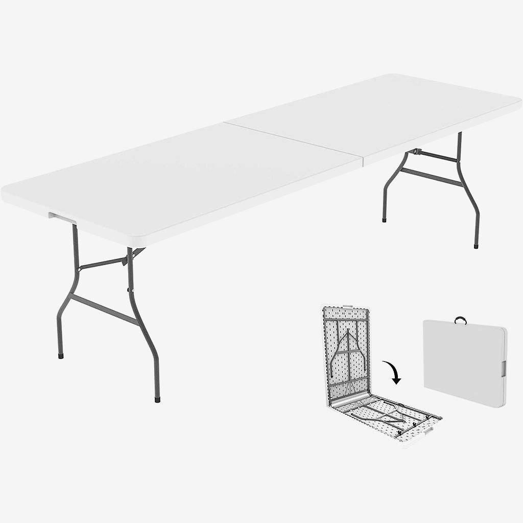 Összecsukható, HDPE nagy méretű kemping árusító asztal 240x75cm